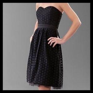 White House Black Market 14 Strapless Dress Polka